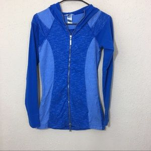 Hard Tail Zip Up Blue Hooded Long Sleeve XS